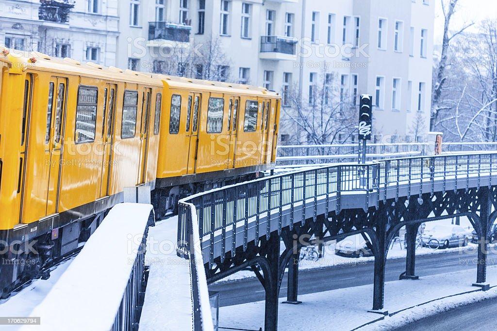 U-Bahn in Berlin stock photo