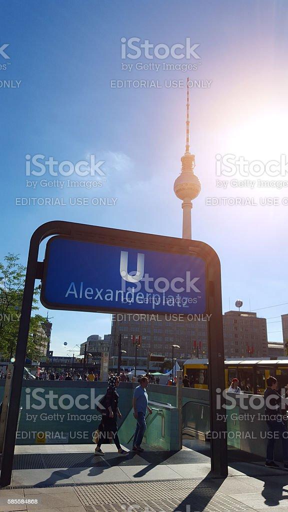U-Bahn station Berlin Alexanderplatz stock photo