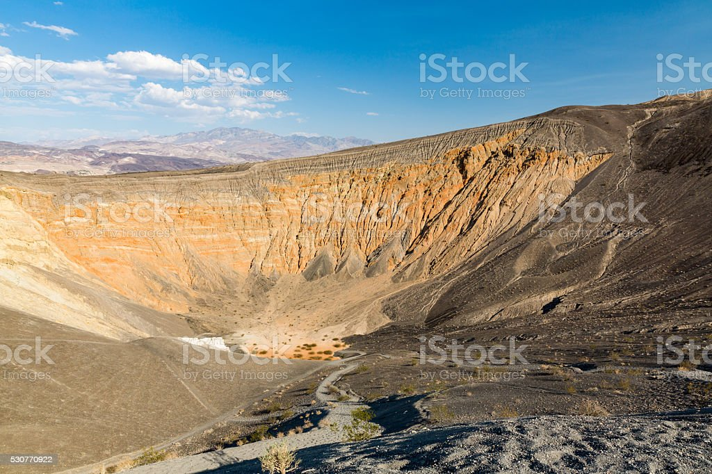 Ubehebe Crater in Death Valley National Park stock photo