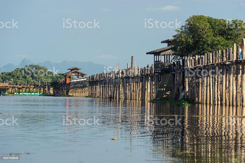 U-Bein bridge at Mandalay city, Myanmar stock photo