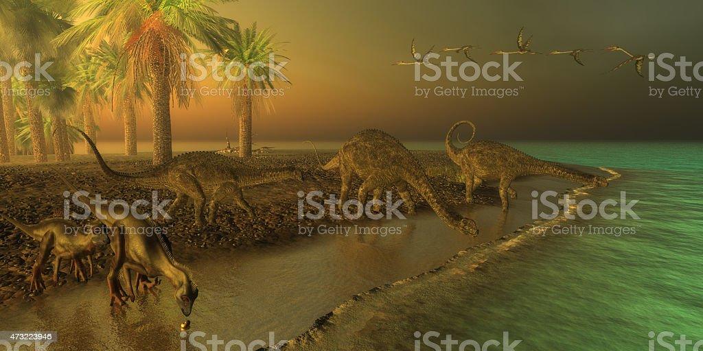 Uberabatitan Dinosaurs stock photo