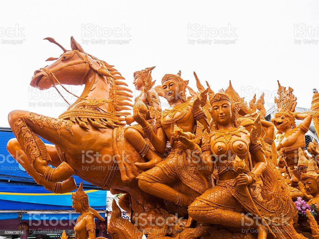 Ubon Ratchathani Candle Festival ,Thailand stock photo