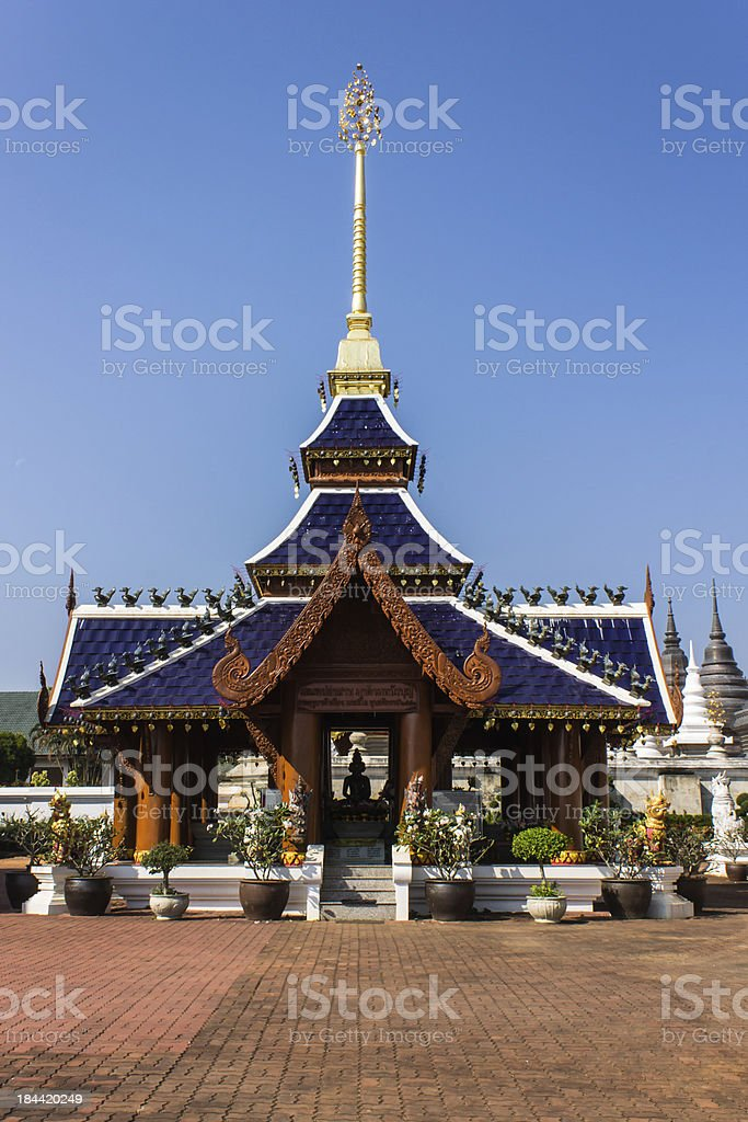 Ubosot in Wat Banden,Chiangmai Thailand royalty-free stock photo