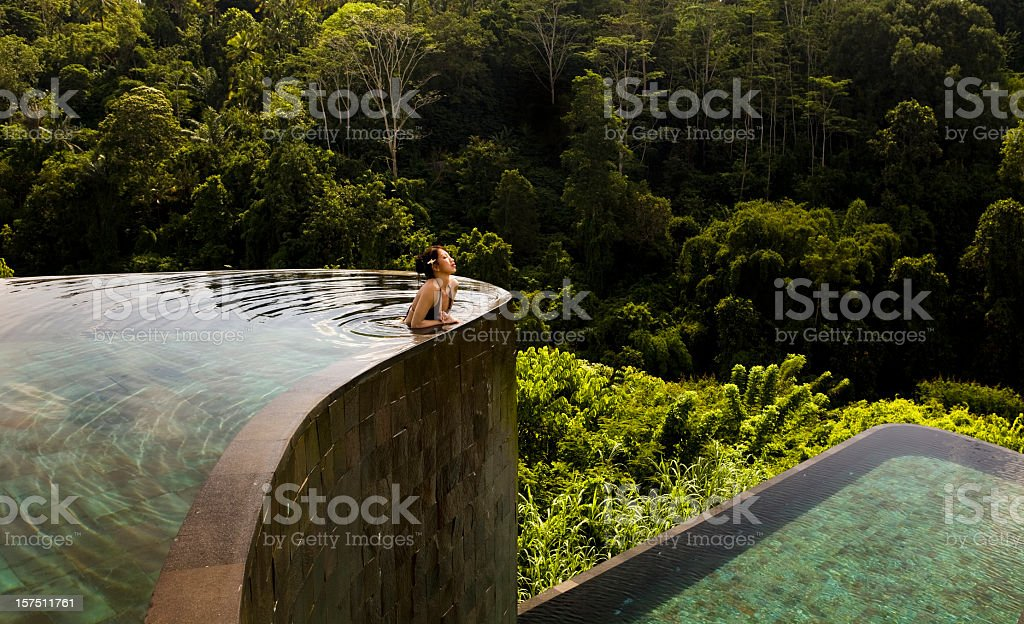 Ubud Hanging Gardens in Bali Indonesia stock photo