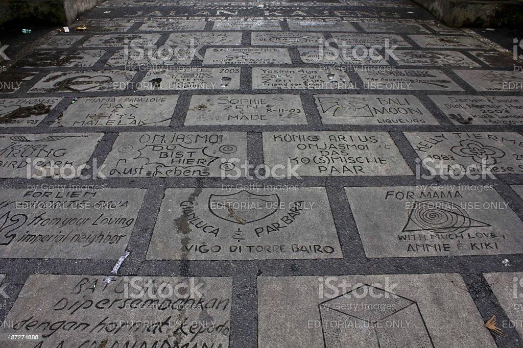 Ubud Walk of Fame, Bali stock photo