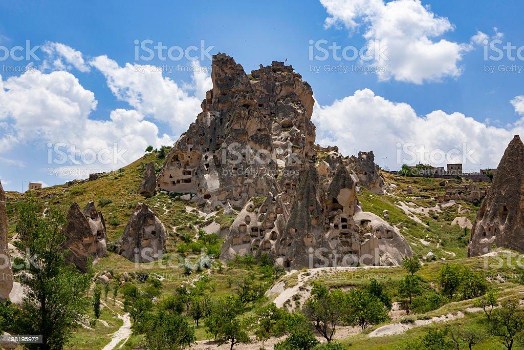 Uchisar Castle Landscape stock photo
