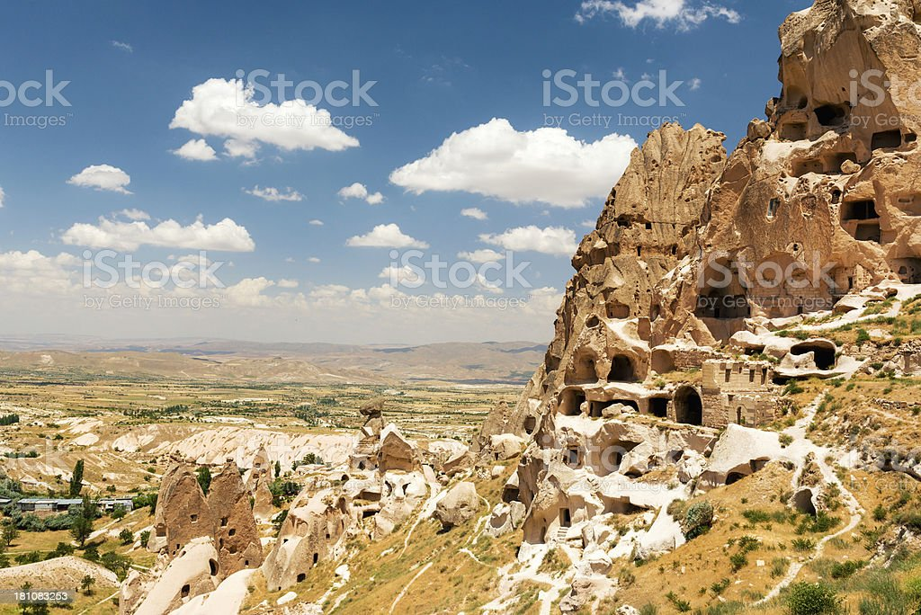 Uchisar castle royalty-free stock photo