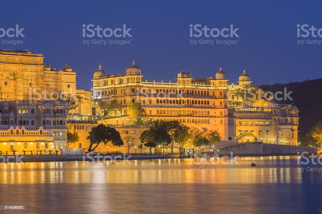 Udaipur City Palace in Rajasthan state of India stock photo