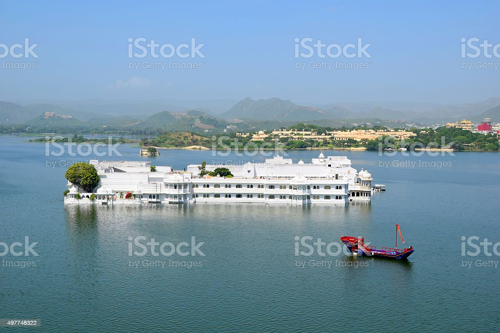 Udaipur Taj Palace India stock photo