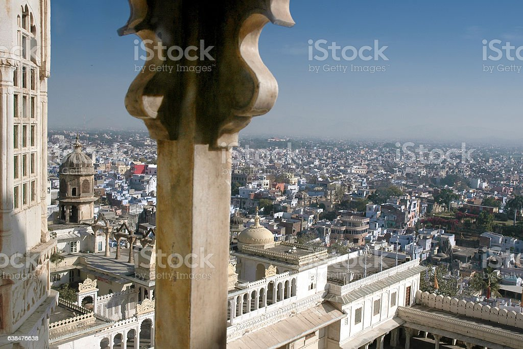 Udaipur, view from the City Palace stock photo