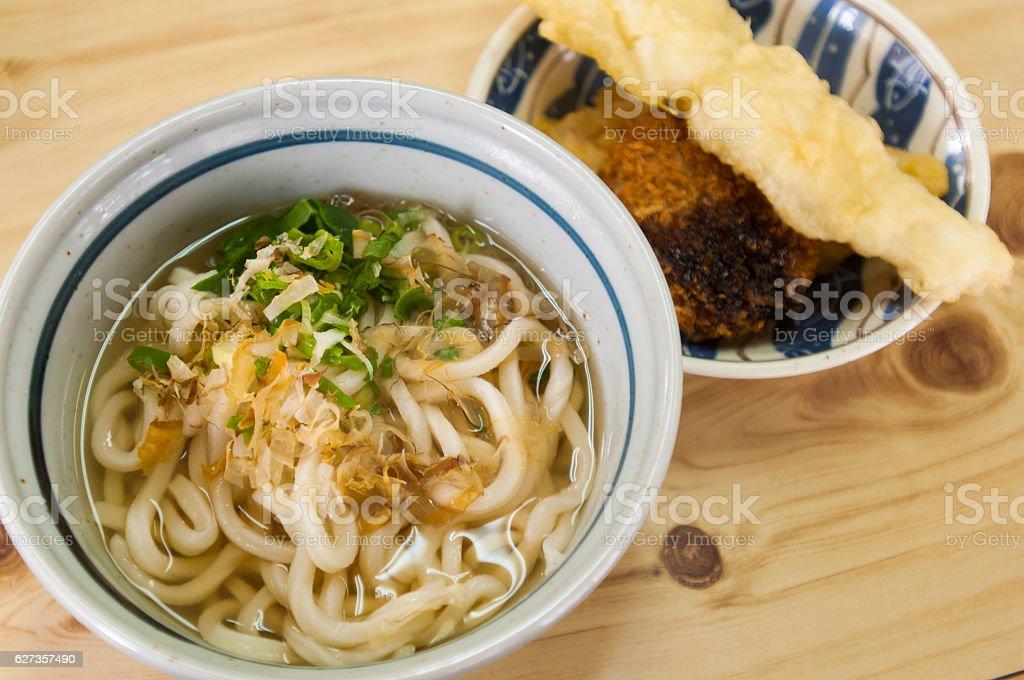 Udon and Tempura Naruto stock photo