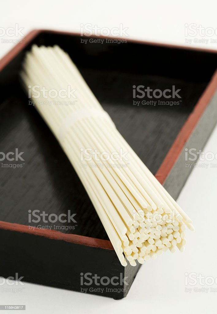 Udon noodles royalty-free stock photo