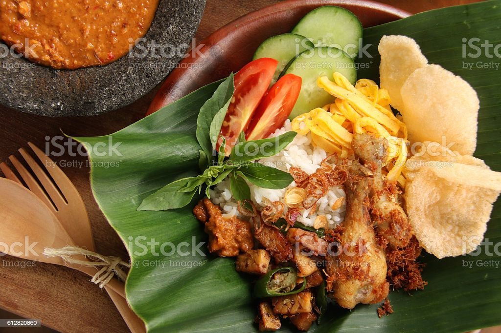 Nasi Uduk Betawi stock photo