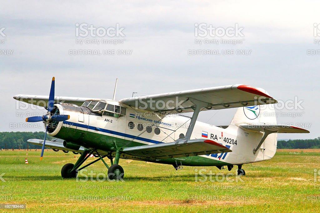 Ufa Airlines Antonov An-2 stock photo