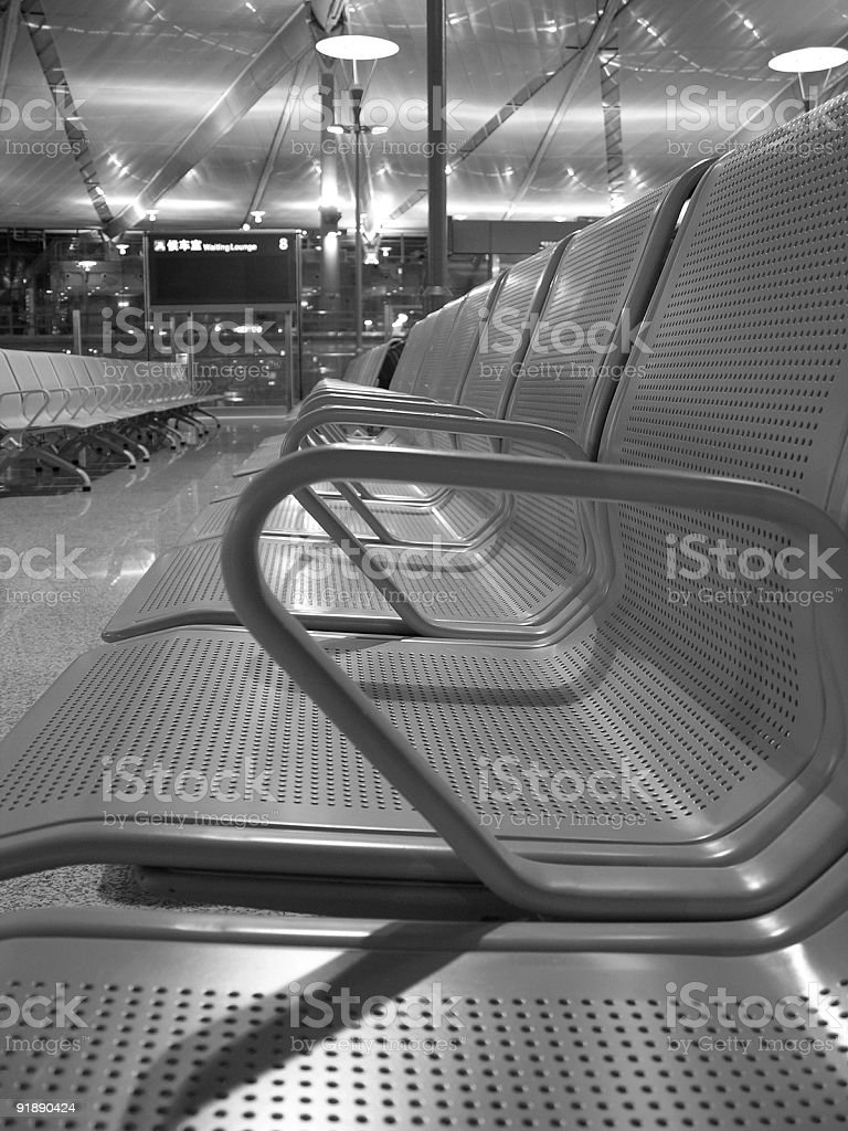 Ufilled seat stock photo