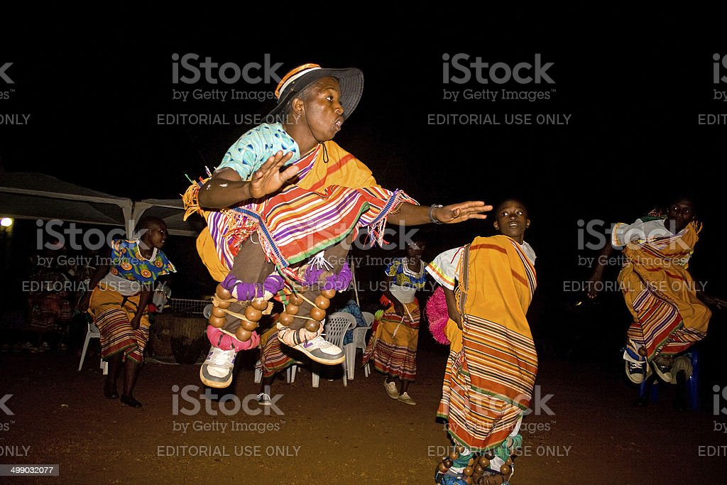 Uganda dance group stock photo