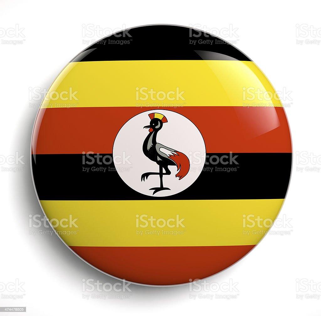 Uganda flag royalty-free stock photo