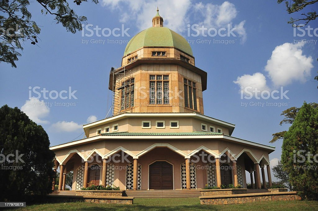 Uganda- Kampala: Baha'i Temple royalty-free stock photo