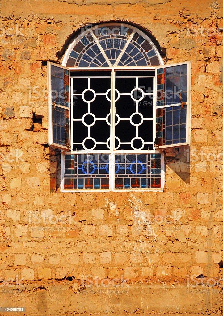 Uganda- Kampala - Church window on Kikaya Hill royalty-free stock photo