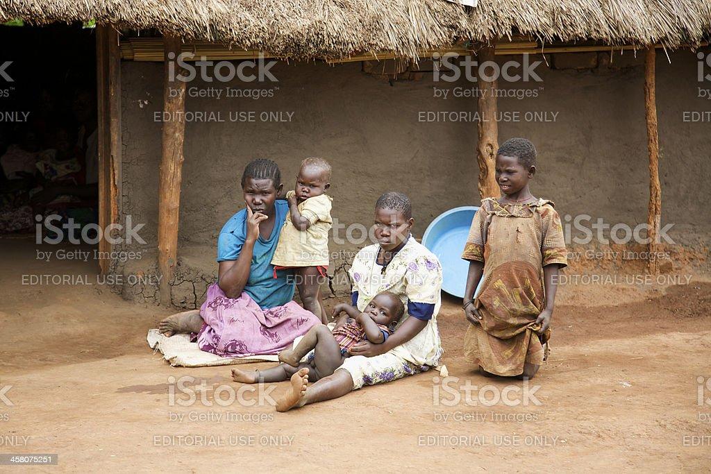 Uganda Refugee Family stock photo