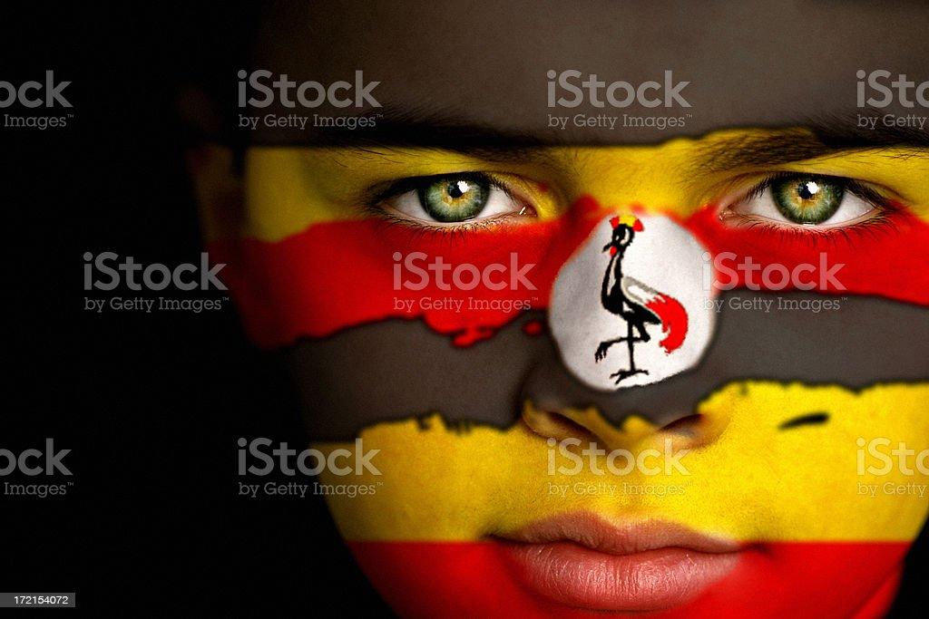 Ugandan boy stock photo