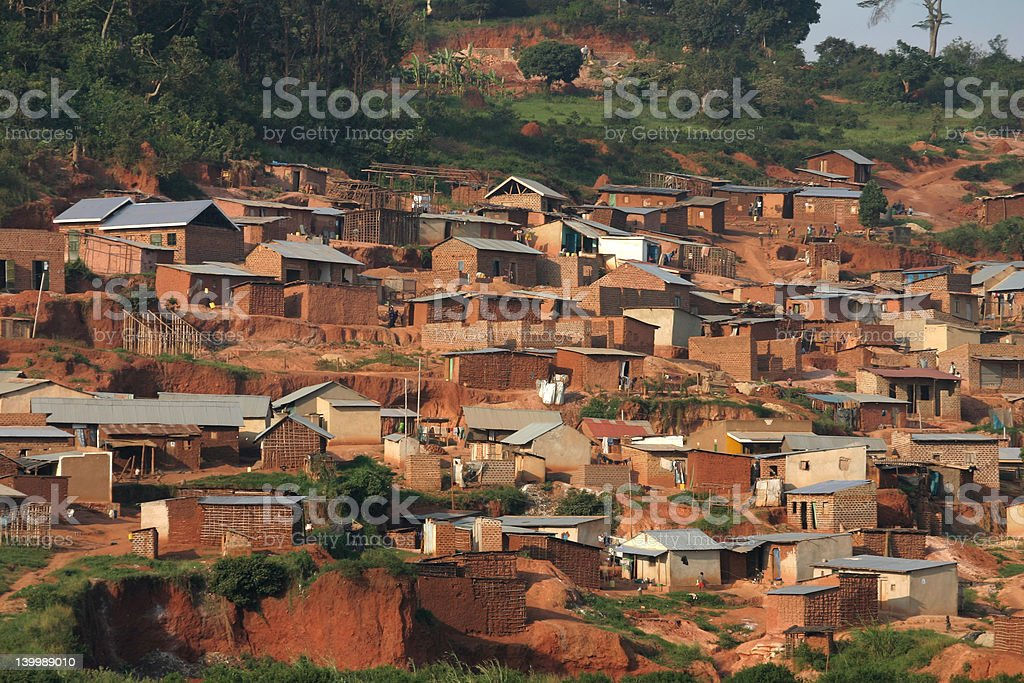 Ugandan Village stock photo