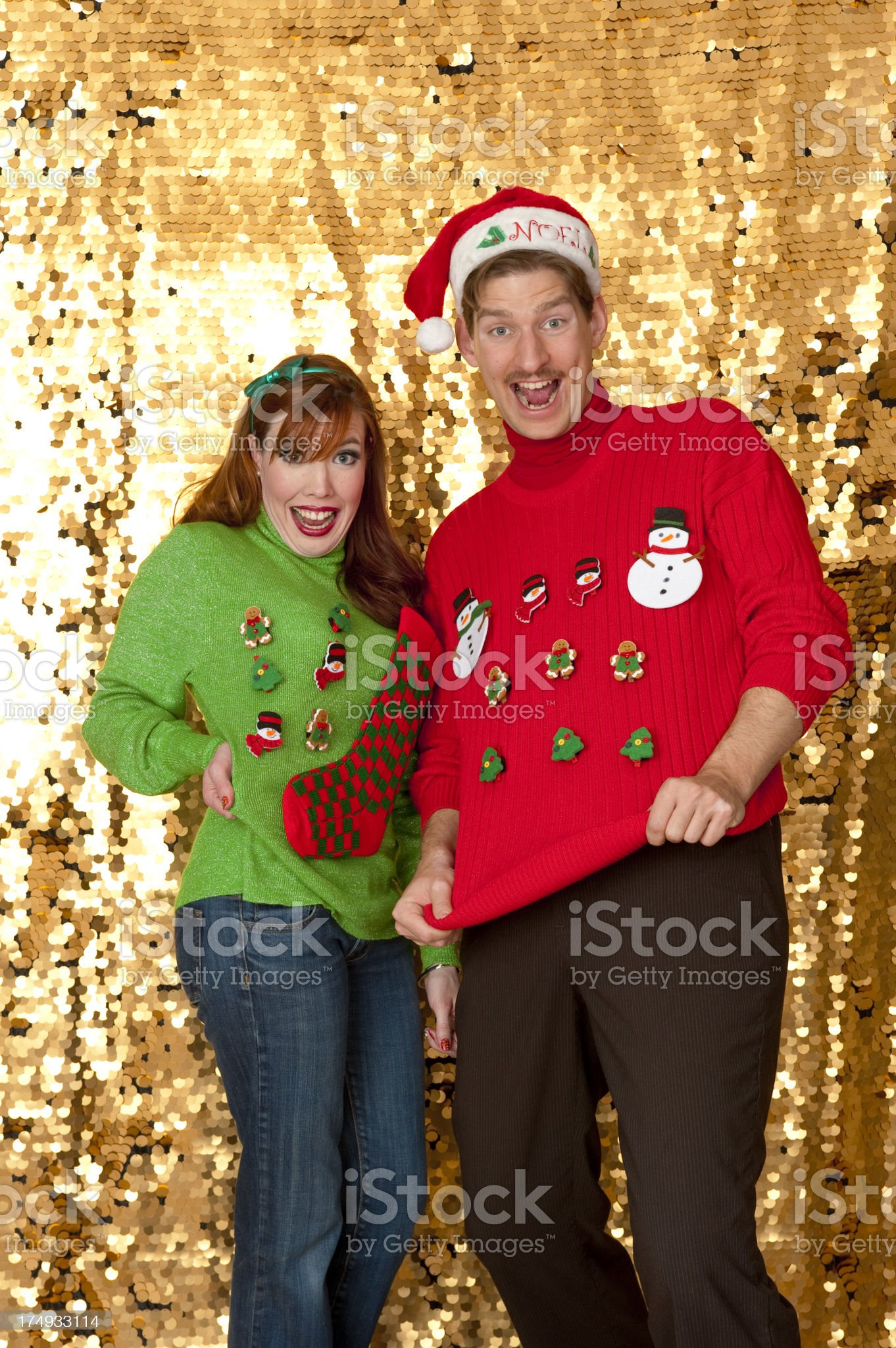 Ugly Christmas Sweaters royalty-free stock photo