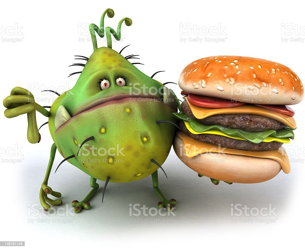 Ugly germ stock photo
