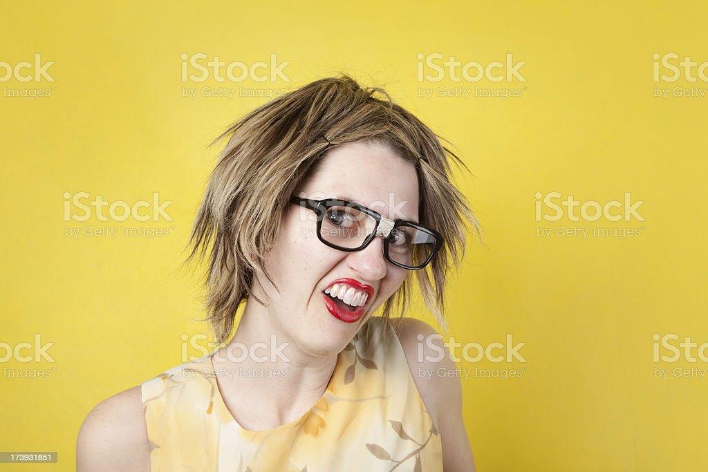 Ugly Girl royalty-free stock photo