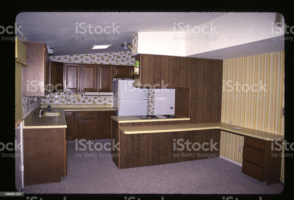 ugly kitchen stock photo