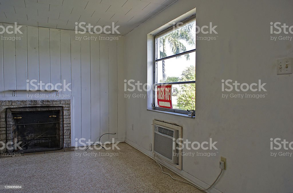 ugly room for rent stock photo