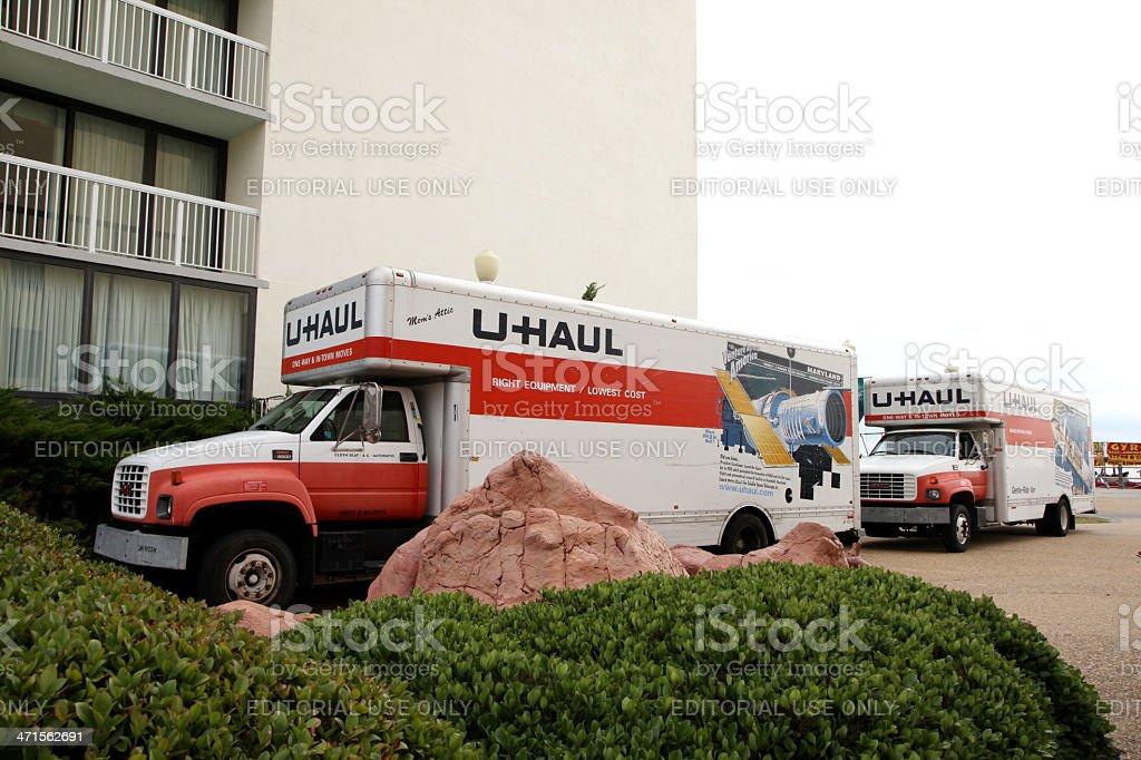 U-Haul Moving Trucks royalty-free stock photo
