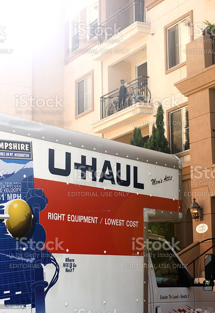 U-Haul truck stock photo