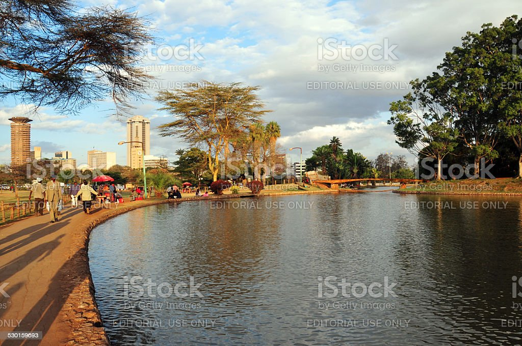 Uhuru Park, Nairobi, Kenya stock photo