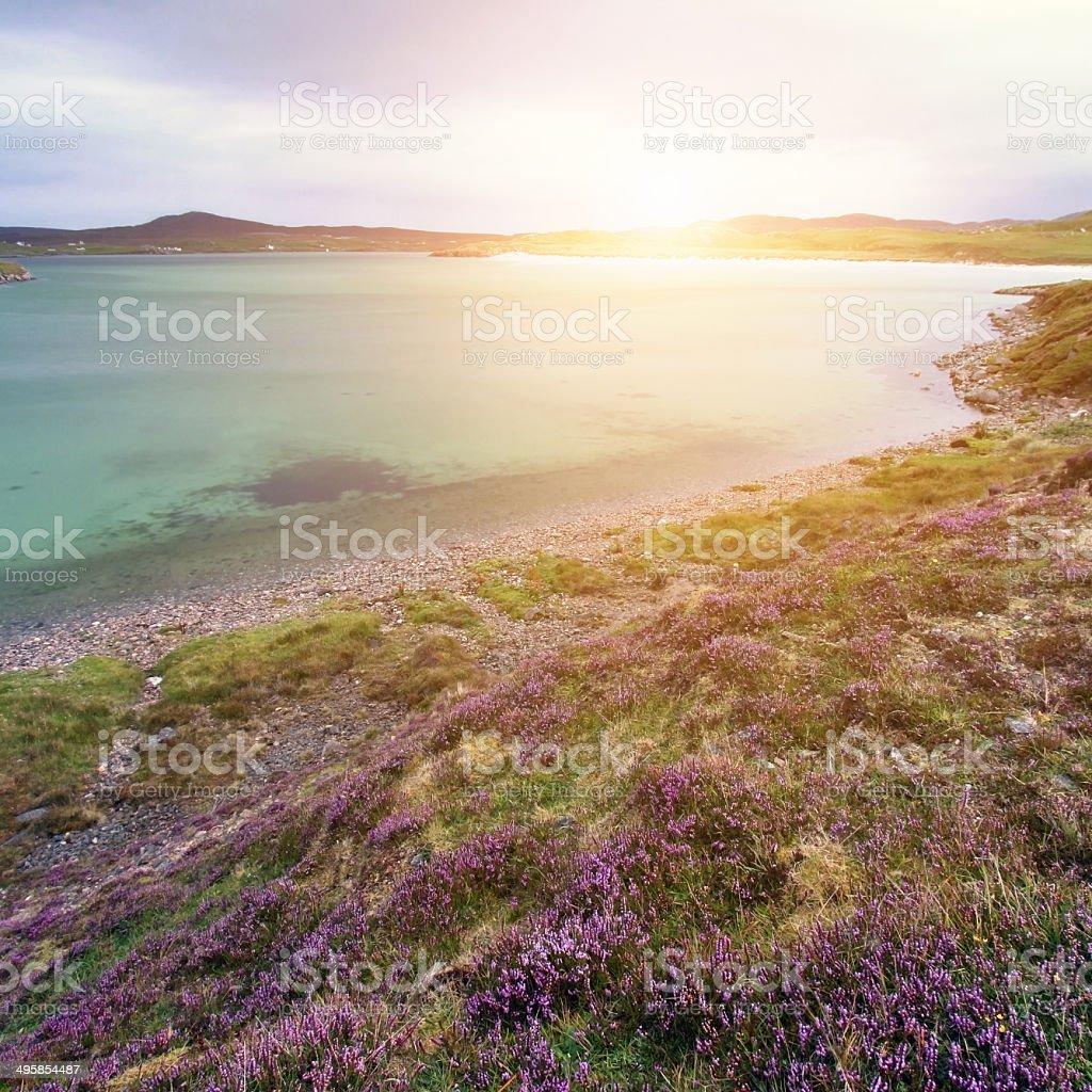 Uig Bay on Isle of Lewis stock photo