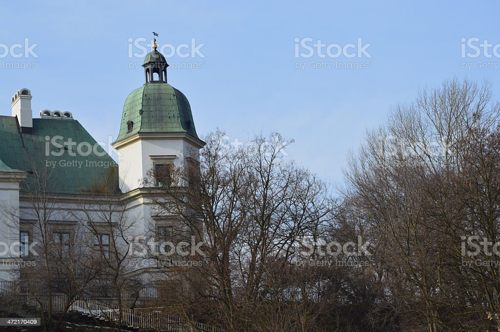 Ujazd?w Castle in Warsaw royalty-free stock photo