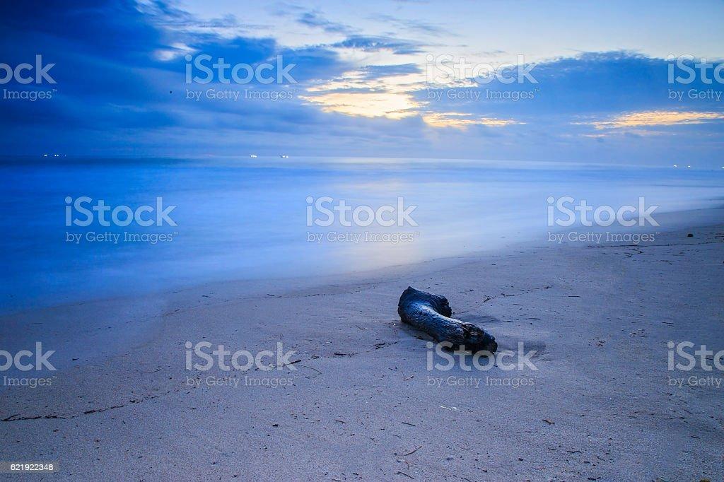 Ujung Genteng Beach stock photo