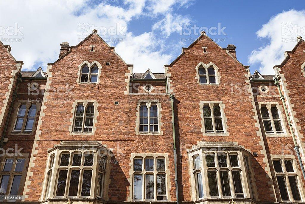 Uk british brick house royalty-free stock photo