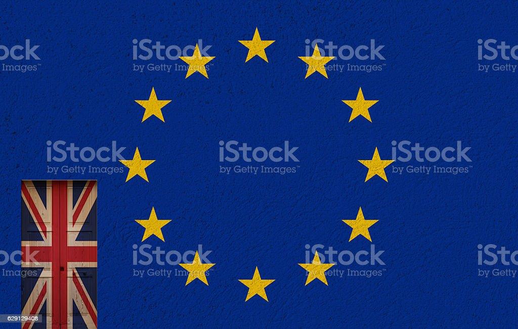 uk door and referendum stock photo