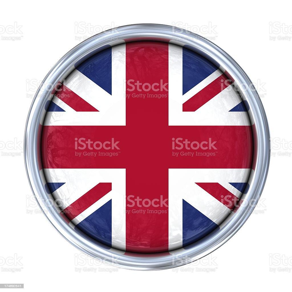uk flag on button royalty-free stock photo