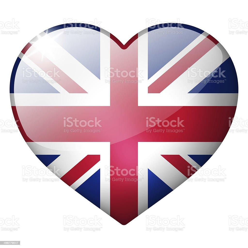 uk heart button stock photo