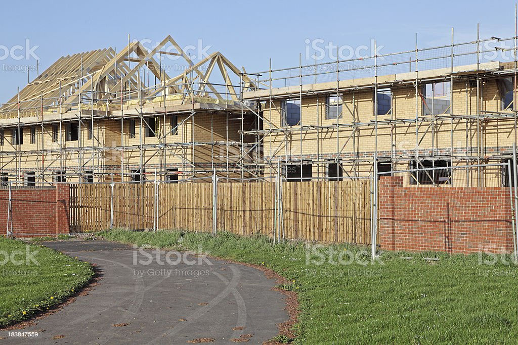 uk houses being built royalty-free stock photo