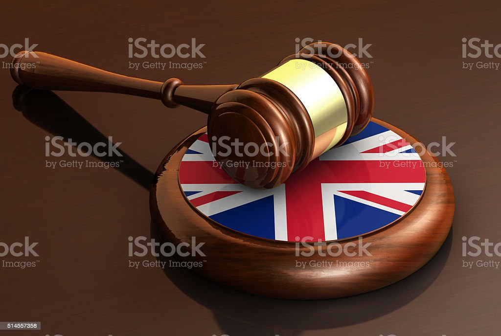 Uk Law And British Justice Concept stock photo