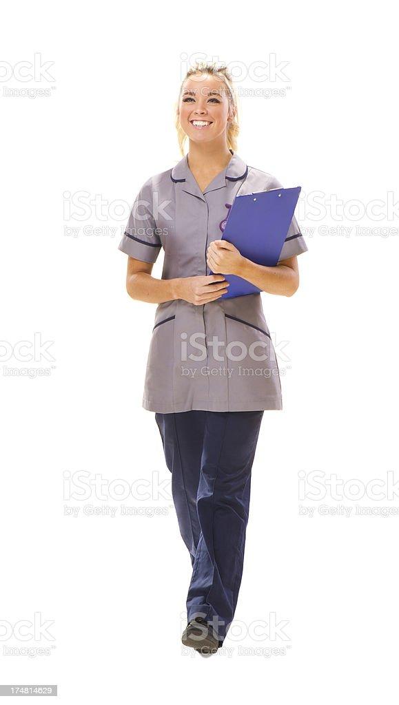 uk nurse royalty-free stock photo