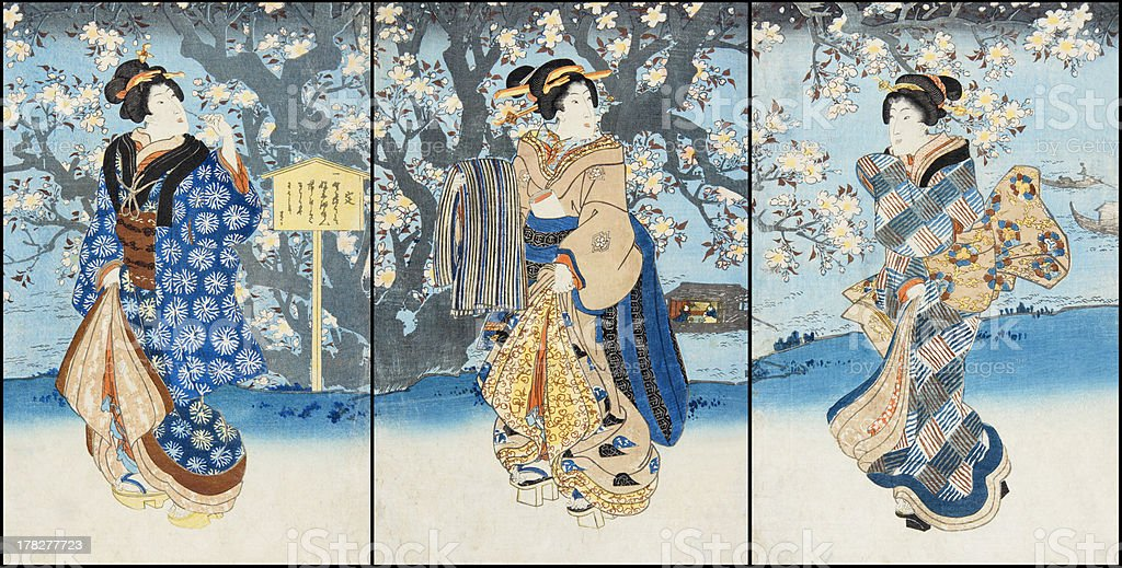 Ukiyoe royalty-free stock photo