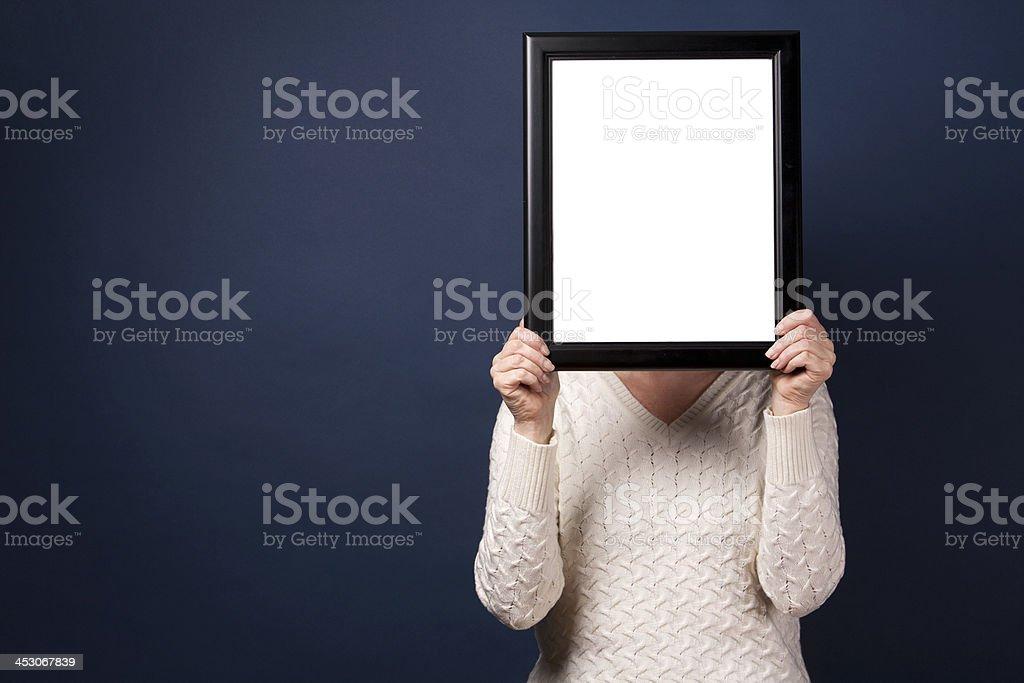uknown woman stock photo