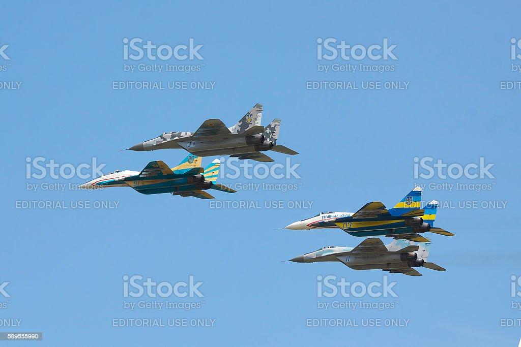 Ukraine Air Force MiG-29 stock photo