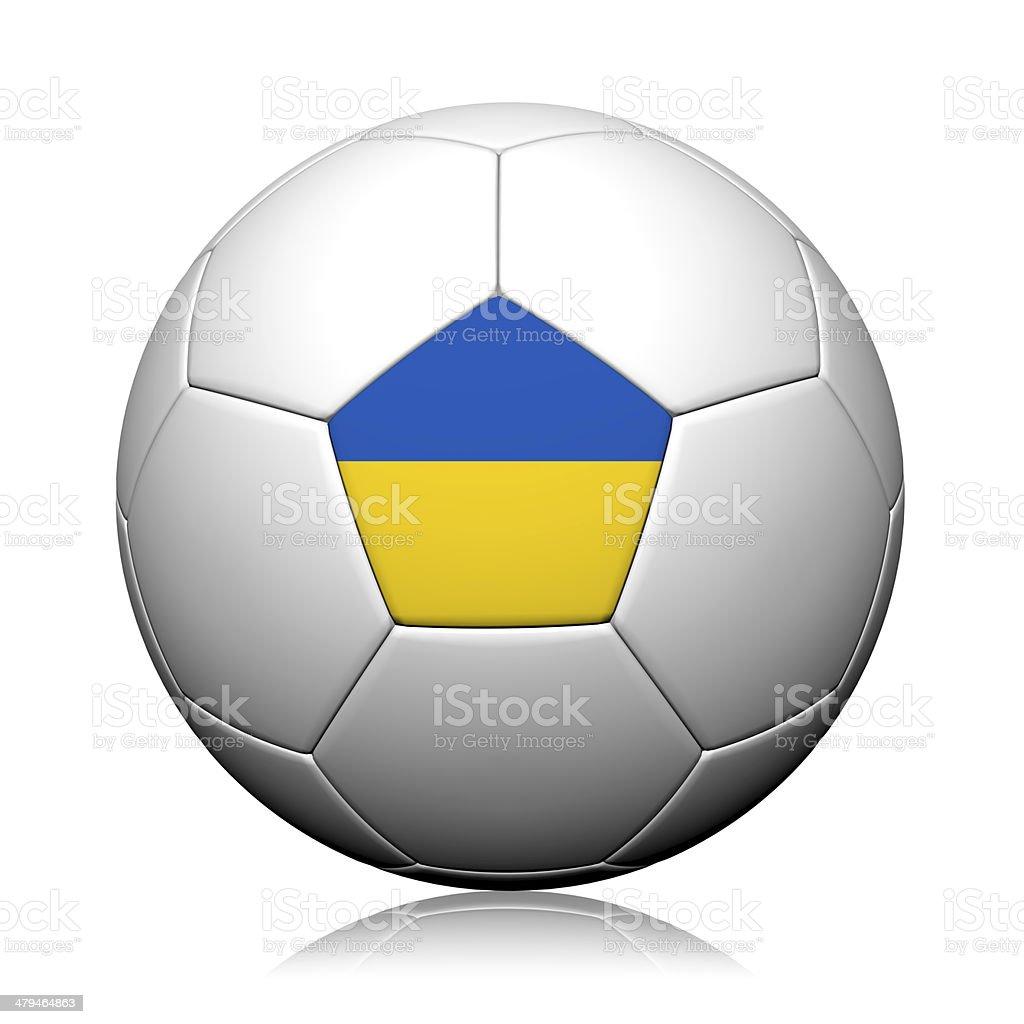 Ukraine Flag Pattern 3d rendering of a soccer ball stock photo
