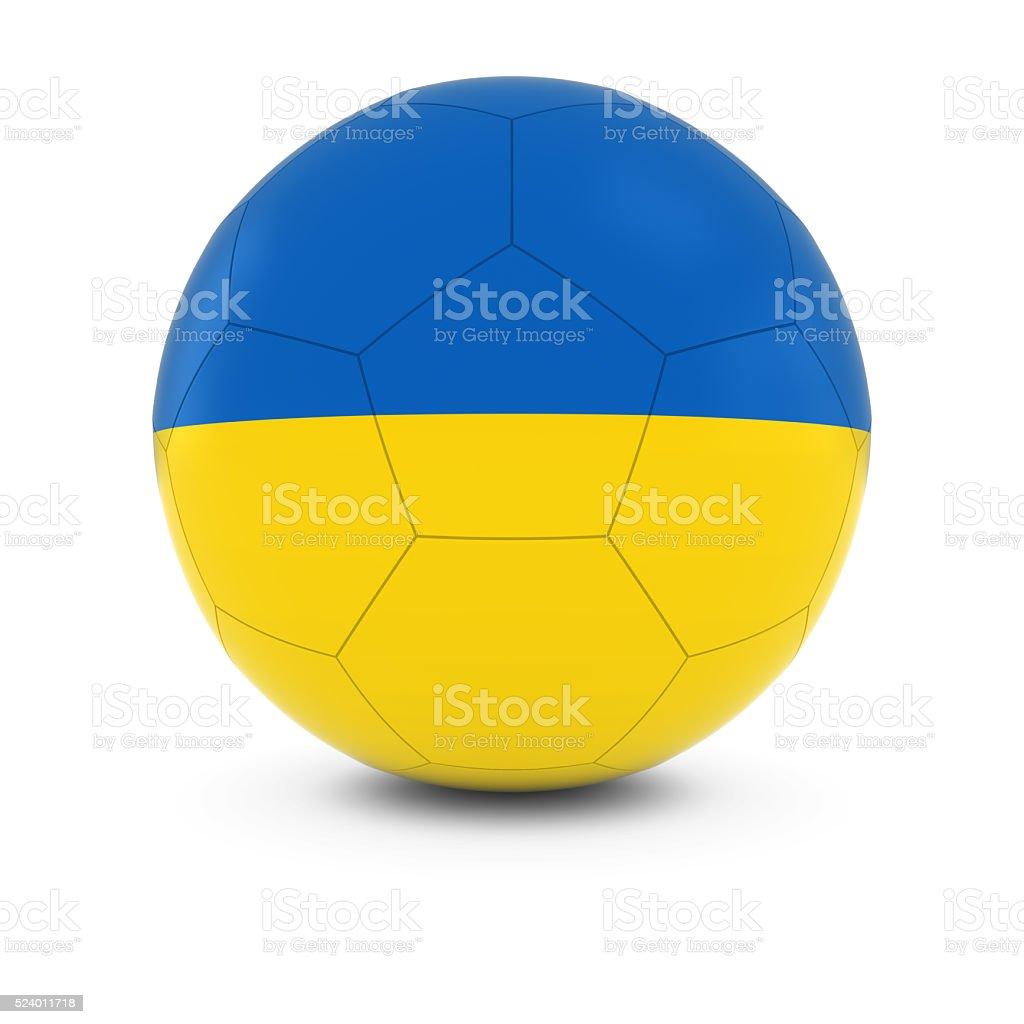 Ukraine Football - Ukrainian Flag on Soccer Ball stock photo