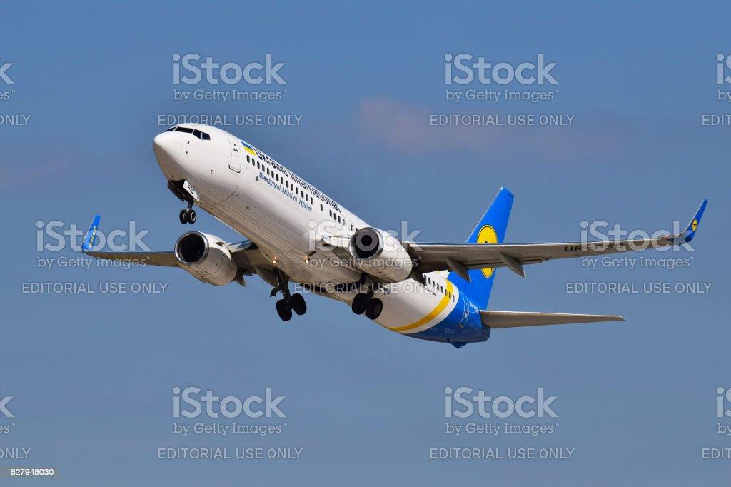 Ukraine International Airlines Boeing 737 stock photo